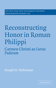 Reconstructing Honor in Roman Philippi: Carmen Christi as Cursus Pudorum