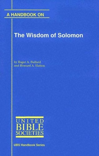 Handbook on the Wisdom of Solomon