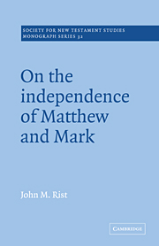 On the Independence of Matthew and Mark