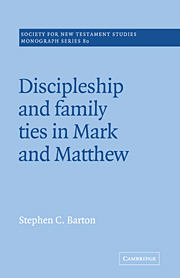 Discipleship and Family Ties in Mark and Matthew