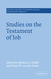 Studies on the Testament of Job