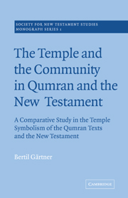 The Temple and the Community in Qumran and the New Testament: A Comparative Study in the Temple Symbolism of the Qumran Texts and the New Testament