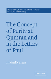 The Concept of Purity at Qumran and in the Letters of Paul