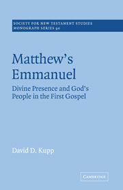 Matthew's Emmanuel: Divine Presence and God's People in the First Gospel
