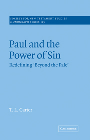 Paul and the Power of Sin: Redefining 'Beyond the Pale'