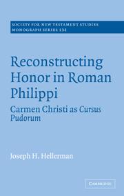 Reconstructing Honor in Roman Philippi: Carmen Christi as Cursus Pudorum