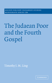 The Judaean Poor and the Fourth Gospel