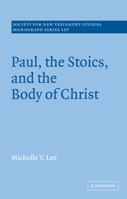 Paul, the Stoics and the Body of Christ