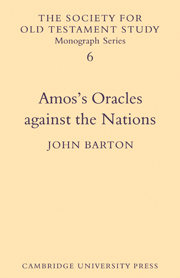 Amos's Oracles Against the Nations