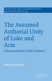 The Assumed Authorial Unity of Luke and Acts: A Reassessment of the Evidence