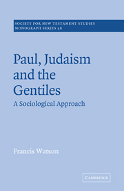 Paul, Judaism, and the Gentiles: A Sociological Approach