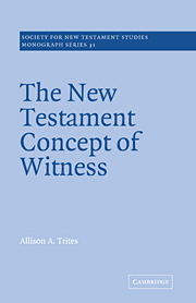 The New Testament Concept of Witness