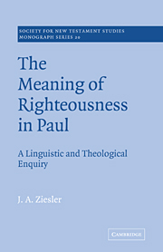 The Meaning of Righteousness in Paul: A Linguistic and Theological Enquiry