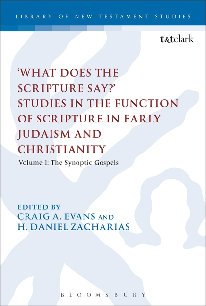 'What Does the Scripture Say?' Studies in the Function of Scripture in Early Judaism and Christianity Volume 1: The Synoptic Gospels