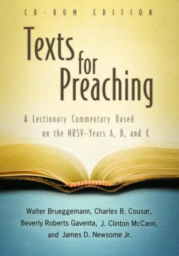 Texts for Preaching, CD-ROM Edition:Â A Lectionary Commentary Based on the NRSV--Years A, B, and C