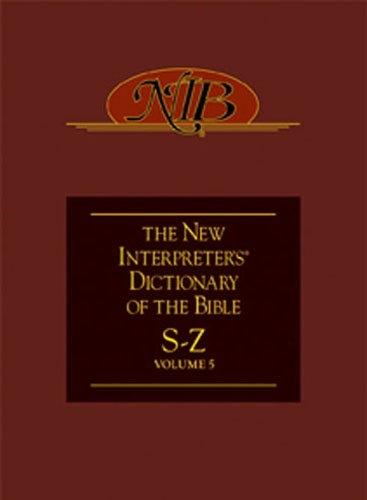 New Interpreter's Dictionary of the Bible Volume 5 - NIDB