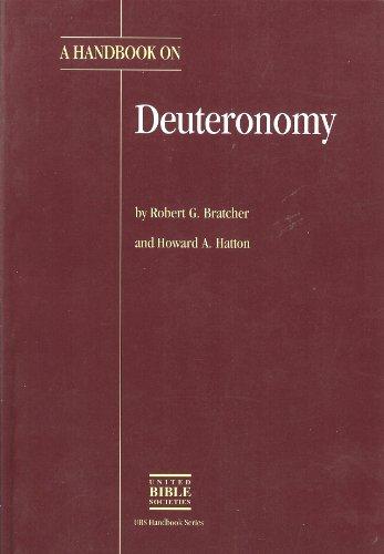 A Handbook on Deuteronomy