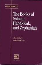 A Handbook on the Books of Nahum, Habakkuk, and Zephaniah