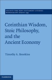 Corinthian Wisdom, Stoic Philosophy and the Ancient Economy