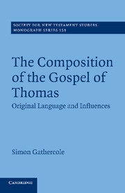 The Composition of the Gospel of Thomas: Original Language and Influences